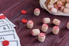 Lotto för brädelek Arkivfoto