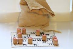 Lotto för tappningbrädelek, kaggar som är trä Fotografering för Bildbyråer