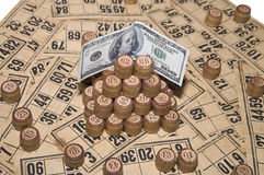 Lotto - gambling. Lotto - the ancient game of chance for money Stock Images