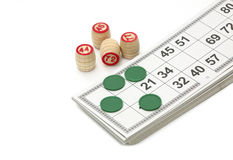 Lotto game. Isolated on white background Royalty Free Stock Photography