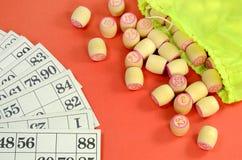 Lotto kardiert Fass Stockbild