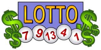 Lotto-Kugel-Lotterie-Klipp-Kunst Stockfotografie