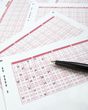 Lotto lottery luck bet gamble Stock Photography