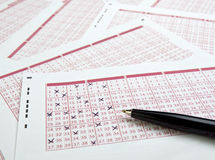 Lotto lottery luck bet gamble Stock Photo