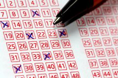 Lotto Lucky Numbers Royalty Free Stock Photos