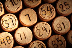 Lotto numbers. Closeup view of lotto numbers Royalty Free Stock Images