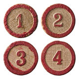 Lotto Numbers One Two Three Four Royalty Free Stock Images
