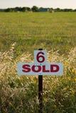 Lotto numero 6 venduto Fotografia Stock Libera da Diritti