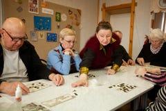 Lotto - oefeningen voor ontwikkeling van aandacht royalty-vrije stock fotografie