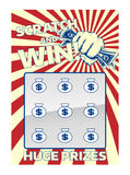 Lotto Scratch Card Stock Photos