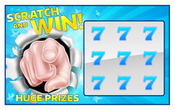 Lotto Scratchcard stock illustration