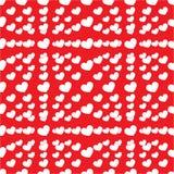 Lotto senza cuciture di cuore Fotografie Stock