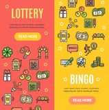 Lotto Signs Banner Vecrtical Set. Vector vector illustration