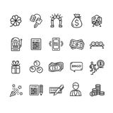 Lotto Signs Black Thin Line Icon Set. Vector vector illustration