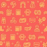 Lotto Signs Seamless Pattern Background. Vector stock illustration