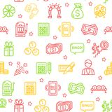 Lotto Signs Seamless Pattern Background. Vector vector illustration