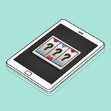 Lotto Slot Machine Jackpot Win Concept. Lotto Slot Machine Jackpot Win stock illustration