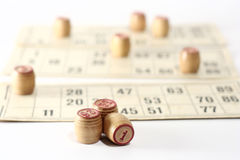 lotto spel Royalty-vrije Stock Afbeelding