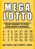 Lotto ticket Royalty Free Stock Images