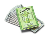 Lotto Ticket Payout Royalty Free Stock Photography
