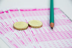 Lotto tickets Royalty Free Stock Photos