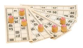 Lotto wooden barrels Stock Photo