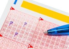 Lottokarte Lizenzfreie Stockfotos
