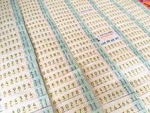 Lottoschein am Stall in Thailand Stockbild