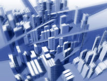 lotu ptaka krajobraz jest urbanistic wzrostu Obrazy Royalty Free