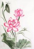 Lotus και λιβελλούλη Στοκ Εικόνες