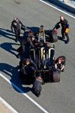 Lotus ομάδας Renault F1, Ρομάν Grosjean, 2012 Στοκ φωτογραφία με δικαίωμα ελεύθερης χρήσης