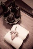 Lotus. Ornamental in hotel room. It's nice ornamental in bathroom Stock Image