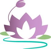Lotus. Isolated line art work Stock Photo