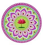 Lotus. Round Icon pattern illustration Stock Photography