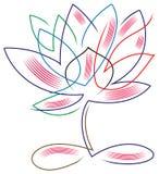 Lotus abstrakt begrepp vektor illustrationer