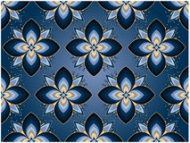 Lotus background. In  blue colours Stock Photography