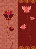 Lotus Banners Royalty Free Stock Photos