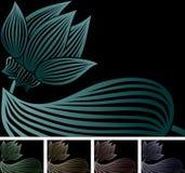 Lotus on black Royalty Free Stock Image
