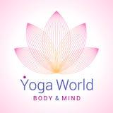 Lotus-bloem als symbool van yoga Stock Foto's