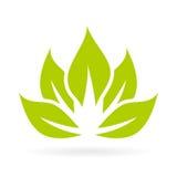 Lotus-bloem vectorpictogram Royalty-vrije Stock Afbeeldingen