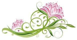 Lotus-bloemen royalty-vrije illustratie