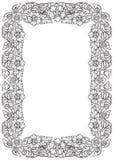 Lotus-bloemen in ingewikkeld rechthoekig kader worden geschikt dat Populair decoratief motief in Zuidoostelijk Azië Tatoegering D Royalty-vrije Stock Afbeelding
