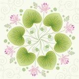 Lotus-bloemkaart Stock Afbeelding