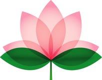 Lotus-bloesem voor pictogram of embleem Stock Afbeelding