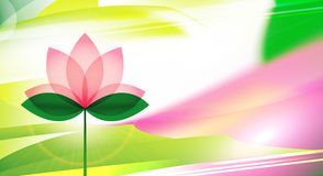 Lotus-bloesemachtergrond of kaart Stock Afbeelding