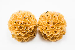 Lotus Blossom Cookie friável Sobremesa de Tailândia Imagens de Stock
