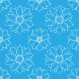 Lotus Blue Seamless Pattern Photographie stock libre de droits
