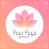 Lotus-Blume als Symbol von Yoga Lizenzfreie Stockfotos