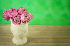 Lotus-Blume in einem Vase Stahl-Leben Stockbilder