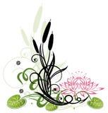 Lotus-Blumen stock abbildung